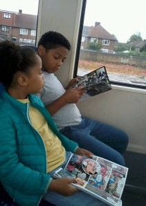 young commuters read