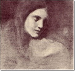 Marianna, Gibran's sister, painted by Gibran