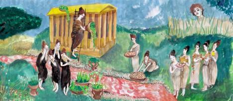 Adone e suppellettili femminili