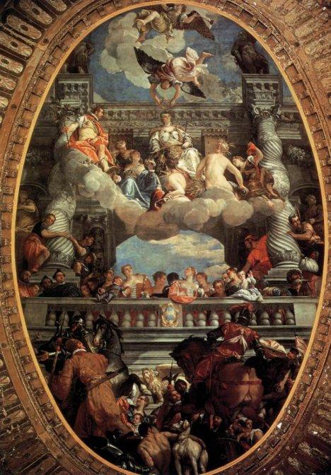 Paolo Veronese-Apoteosi diVenezia(Venezia-Palazzo Ducale)