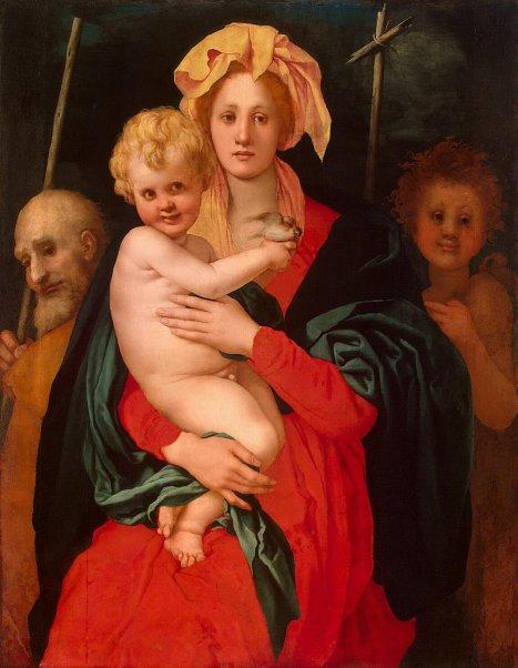 1522-Sacra-Famiglia-con-San-Giovannino-Jacopo-Pontormo-Ermitage-San-Pietroburgo