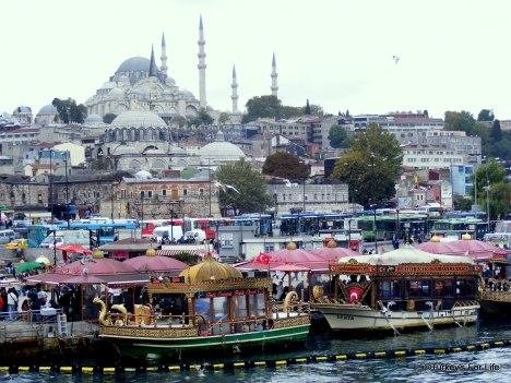 Istanbul+Suleymaniye+Camii+and+Beyazit+from+Galata+bridge+Turkey